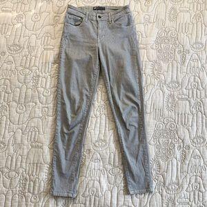 Levi's railroad stripe denim jeans